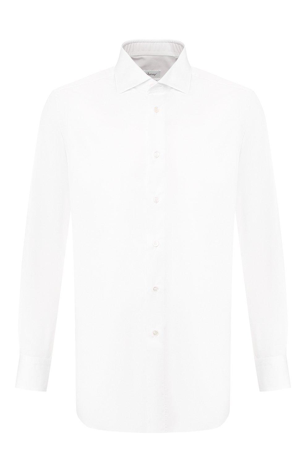 Мужская хлопковая сорочка BRIONI белого цвета, арт. RCL82B/P806N | Фото 1