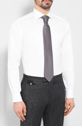 Мужская хлопковая сорочка BRIONI белого цвета, арт. RCL82B/P806N | Фото 4
