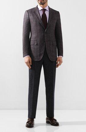 Мужской пиджак из смеси шерсти и шелка ZEGNA COUTURE фиолетового цвета, арт. 750N09/10C2N0 | Фото 2