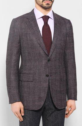 Мужской пиджак из смеси шерсти и шелка ZEGNA COUTURE фиолетового цвета, арт. 750N09/10C2N0   Фото 3