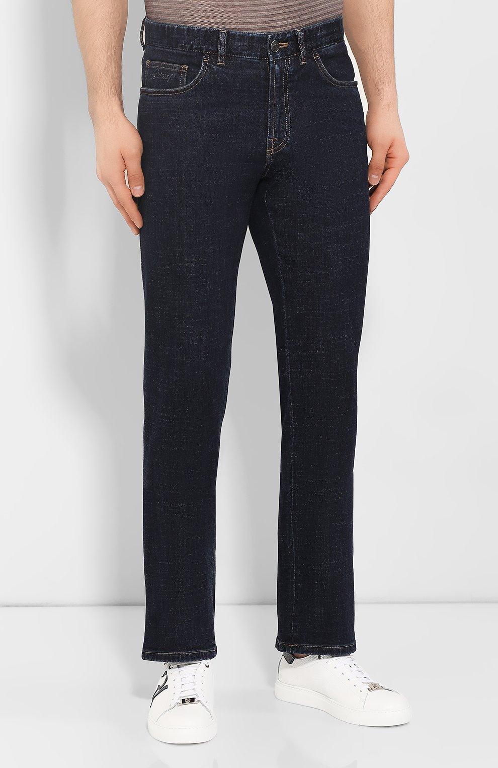 Мужские джинсы BRIONI темно-синего цвета, арт. SPNJ0L/P9D37/STELVI0 | Фото 3