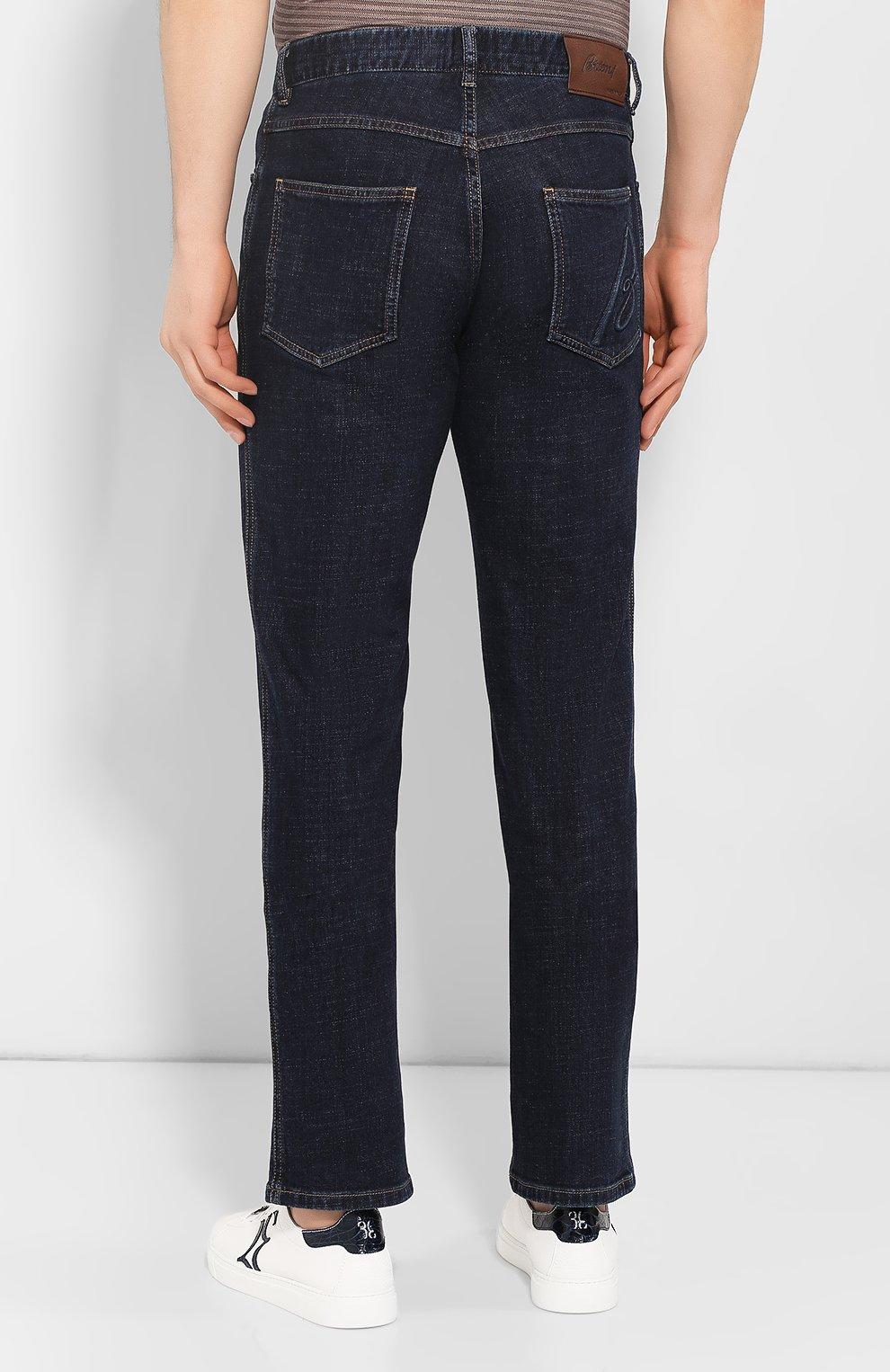 Мужские джинсы BRIONI темно-синего цвета, арт. SPNJ0L/P9D37/STELVI0 | Фото 4