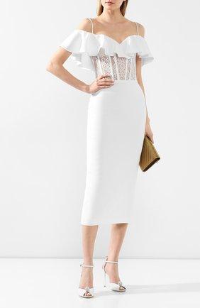 Женское платье-миди RASARIO белого цвета, арт. 0025S20_2 | Фото 2