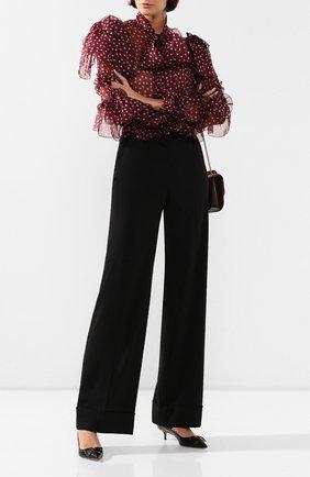 Женские шерстяные брюки DOLCE & GABBANA черного цвета, арт. FTBM0T/FUCC6 | Фото 2