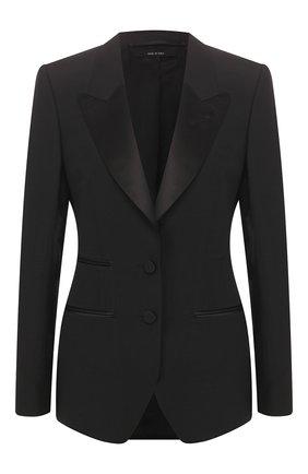 Женский жакет из смеси шерсти и шелка TOM FORD черного цвета, арт. GI2695-FAX375 | Фото 1