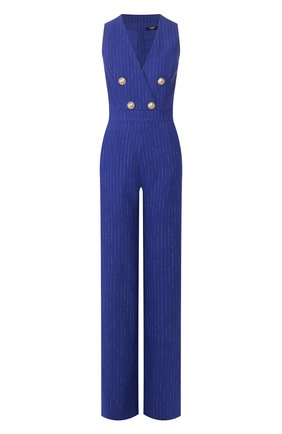 Женский комбинезон BALMAIN синего цвета, арт. TF15329/V098 | Фото 1
