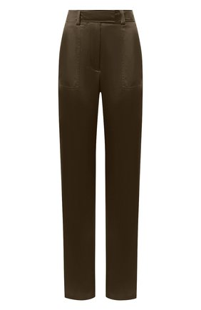 Женские шелковые брюки TOM FORD зеленого цвета, арт. PAW296-FAX614 | Фото 1