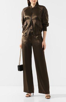 Женские шелковые брюки TOM FORD зеленого цвета, арт. PAW296-FAX614 | Фото 2