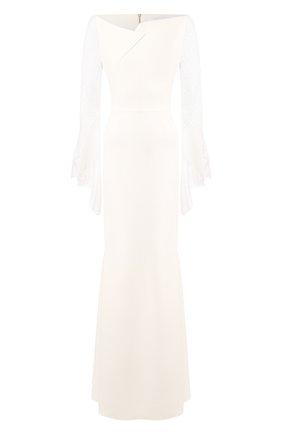 Женское платье-макси ROLAND MOURET белого цвета, арт. PS20/S0839/F0382 | Фото 1
