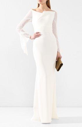 Женское платье-макси ROLAND MOURET белого цвета, арт. PS20/S0839/F0382 | Фото 2