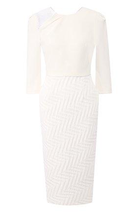 Женское платье ROLAND MOURET белого цвета, арт. PS20/S0875/F0386 | Фото 1