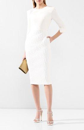 Женское платье ROLAND MOURET белого цвета, арт. PS20/S0875/F0386 | Фото 2