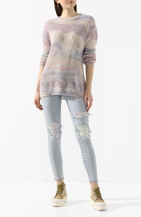 Женская кашемировый свитер AMIRI разноцветного цвета, арт. Y0W05551CC | Фото 2