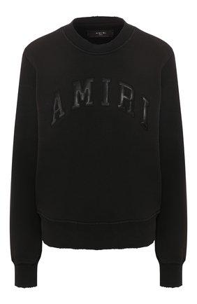 Женская кашемировый свитшот AMIRI черного цвета, арт. Y0W02359TE | Фото 1