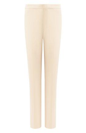 Женские хлопковые брюки LORO PIANA светло-бежевого цвета, арт. FAL1273 | Фото 1