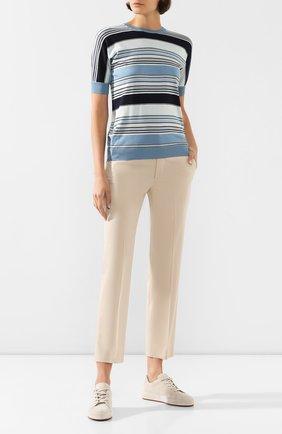 Женские хлопковые брюки LORO PIANA светло-бежевого цвета, арт. FAL1273 | Фото 2