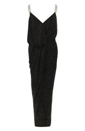 Женское платье-макси BALMAIN темно-серого цвета, арт. TF16761/V087 | Фото 1