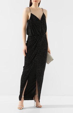 Женское платье-макси BALMAIN темно-серого цвета, арт. TF16761/V087 | Фото 2