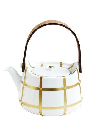 Мужского чайник с кожаной ручкой mailla BERNARDAUD золотого цвета, арт. 1843/22163 | Фото 1
