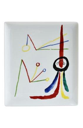 Мужского блюдо a toute epreuve by joan miro BERNARDAUD разноцветного цвета, арт. 1844/8229   Фото 1