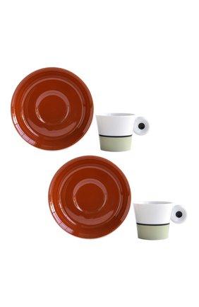Мужского набор irazu brique & lichen из 2-х кофейных чашек BERNARDAUD бордового цвета, арт. 2309/22975 | Фото 1