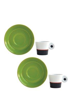 Мужского набор irazu absinthe & anthracite из 2-х кофейных чашек BERNARDAUD хаки цвета, арт. 2309/22977 | Фото 1