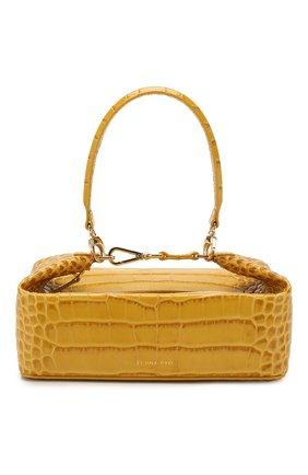 Женская сумка olivia REJINA PYO желтого цвета, арт. B26/LEATHER EMB0SS CR0C   Фото 1