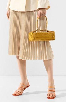 Женская сумка olivia REJINA PYO желтого цвета, арт. B26/LEATHER EMB0SS CR0C   Фото 2