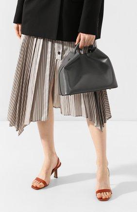 Женская сумка raisin ELLEME серого цвета, арт. RAISIN/C0W LEATHER | Фото 2