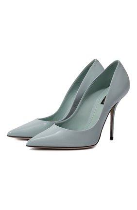 Женская кожаные туфли cardinale DOLCE & GABBANA голубого цвета, арт. CD1475/A1471 | Фото 1