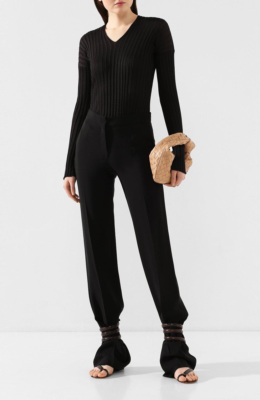 Женские кожаные сандалии BOTTEGA VENETA коричневого цвета, арт. 608864/VF3Q0   Фото 2