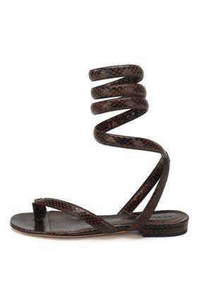 Женские кожаные сандалии BOTTEGA VENETA коричневого цвета, арт. 608864/VF3Q0   Фото 3