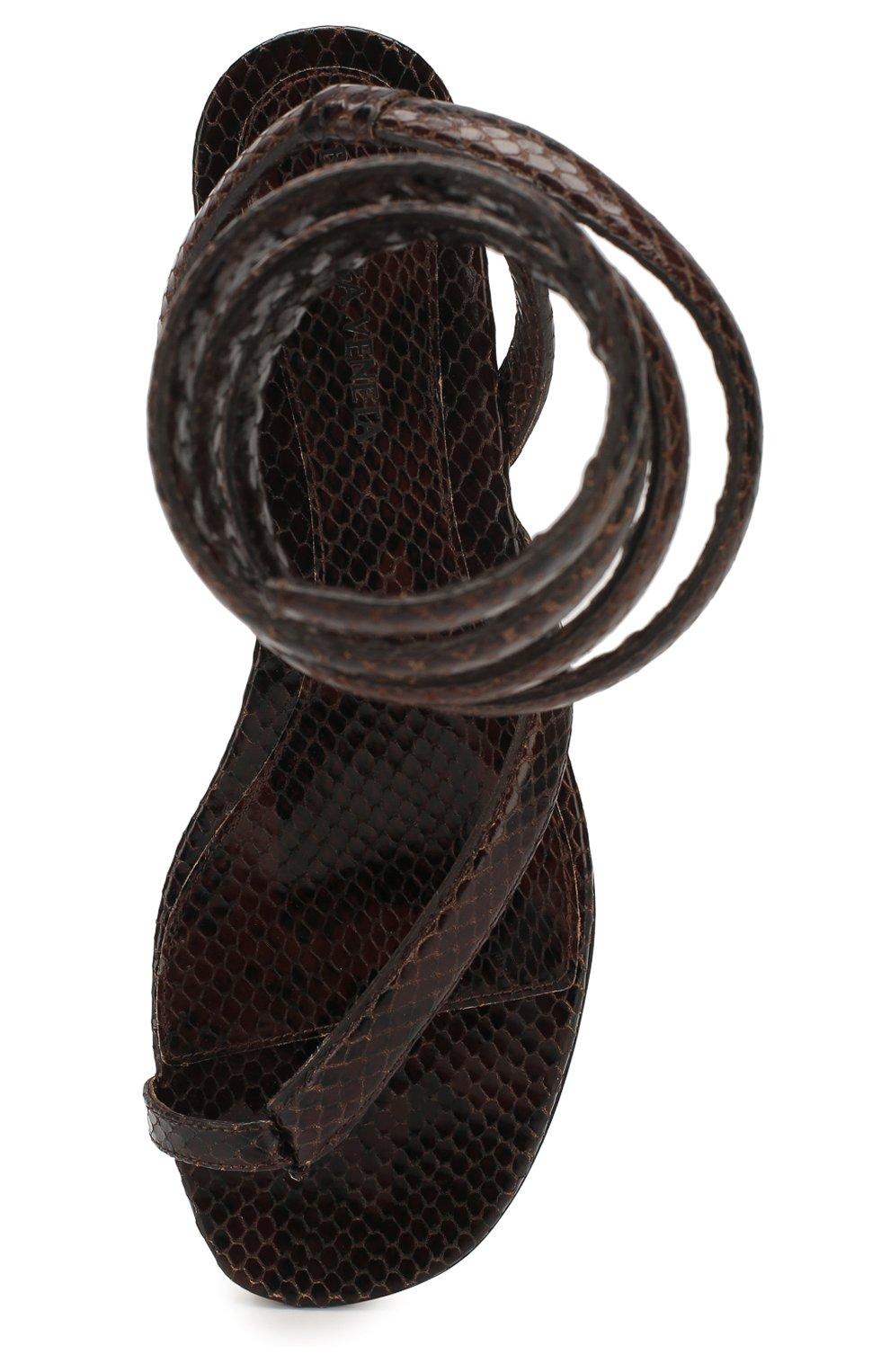 Женские кожаные сандалии BOTTEGA VENETA коричневого цвета, арт. 608864/VF3Q0   Фото 5