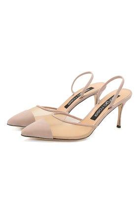 Женская замшевые туфли SERGIO ROSSI светло-розового цвета, арт. A88390-MAFM46 | Фото 1