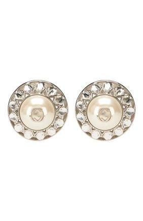 Женские клипсы GUCCI серебряного цвета, арт. 608310/I7358 | Фото 1