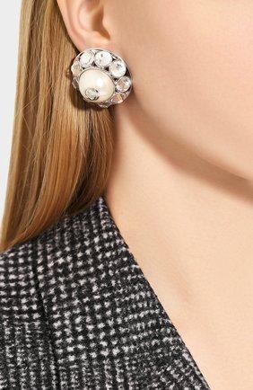 Женские клипсы GUCCI серебряного цвета, арт. 608310/I7358 | Фото 2