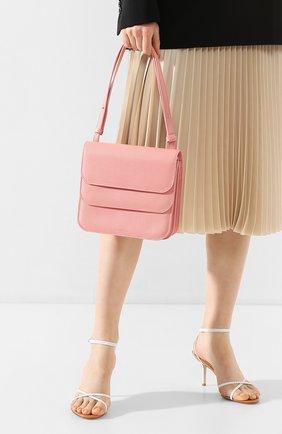 Женская сумка ana REJINA PYO светло-розового цвета, арт. B21/LEATHER TEXTURED   Фото 2