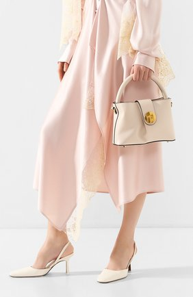 Женская сумка malette ELLEME бежевого цвета, арт. MALETTE/C0W LEATHER | Фото 2