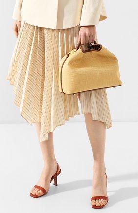 Женская сумка raisin ELLEME коричневого цвета, арт. RAISIN/RAFFIA | Фото 2