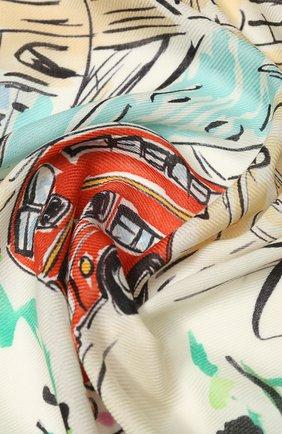 Женская шаль london bridge из смеси кашемира  шелка LORO PIANA разноцветного цвета, арт. FAL0122 | Фото 2