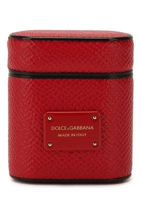 Мужской чехол для airpods DOLCE & GABBANA красного цвета, арт. BI2572/A1001   Фото 1