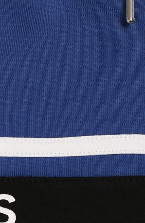 Детские хлопковые шорты GIVENCHY синего цвета, арт. H04069 | Фото 3