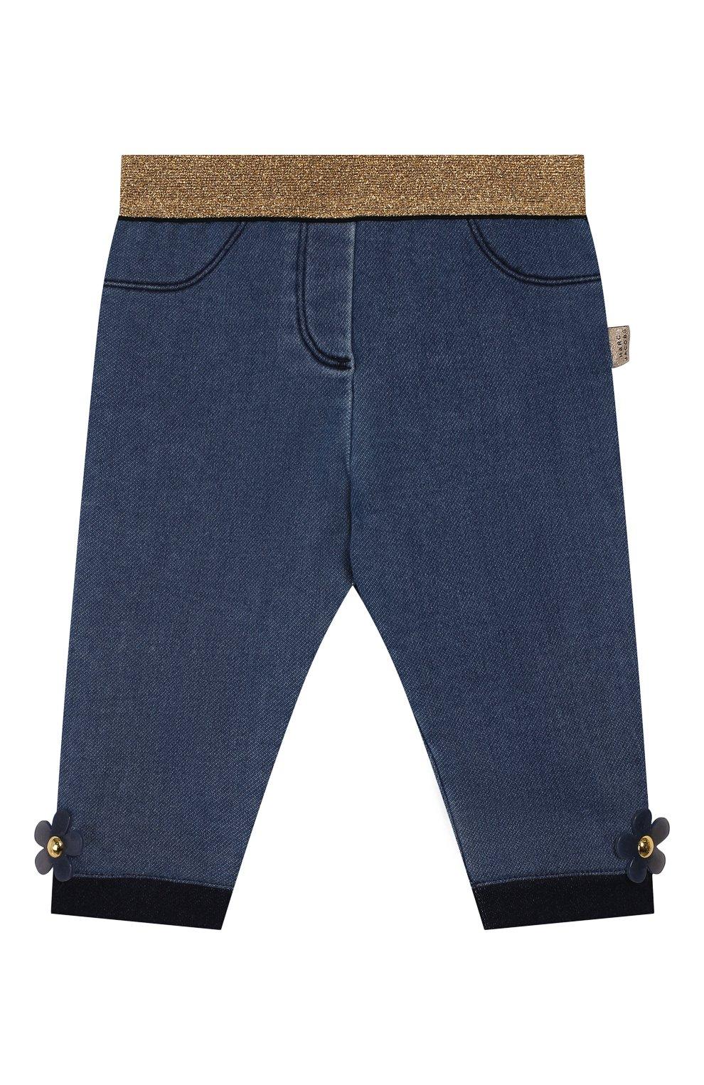 Детские джинсы с эластичным поясом MARC JACOBS (THE) голубого цвета, арт. W04173 | Фото 1