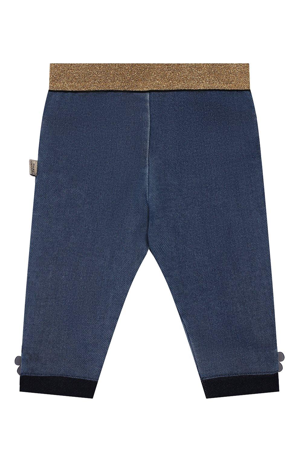 Детские джинсы с эластичным поясом MARC JACOBS (THE) голубого цвета, арт. W04173 | Фото 2