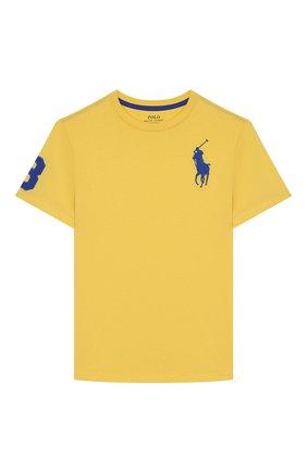 Детская хлопковая футболка POLO RALPH LAUREN желтого цвета, арт. 323770177 | Фото 1
