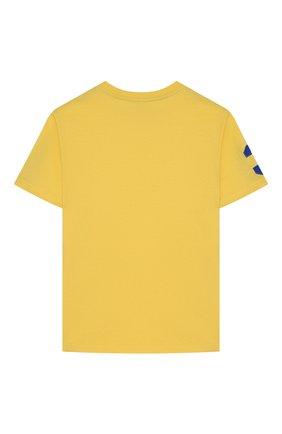 Детская хлопковая футболка POLO RALPH LAUREN желтого цвета, арт. 323770177 | Фото 2
