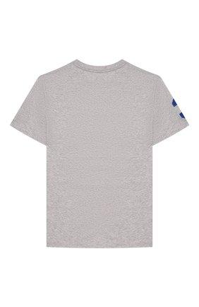 Детская хлопковая футболка POLO RALPH LAUREN серого цвета, арт. 323770177 | Фото 2