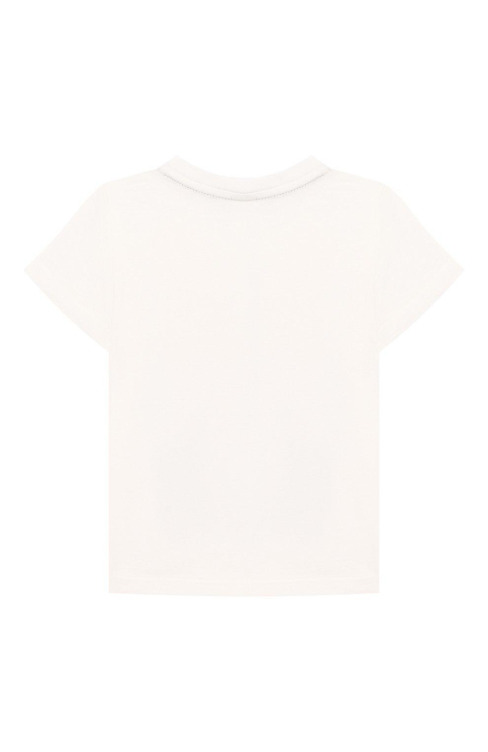 Детский хлопковая футболка FENDI белого цвета, арт. BMI201/7AJ/12M-24M | Фото 2