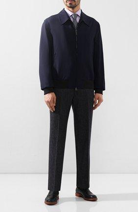 Мужские кожаные пенни-лоферы MORESCHI темно-синего цвета, арт. 43371/EM | Фото 2