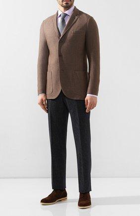 Мужской замшевые дерби MORESCHI темно-коричневого цвета, арт. 43402/162 | Фото 2